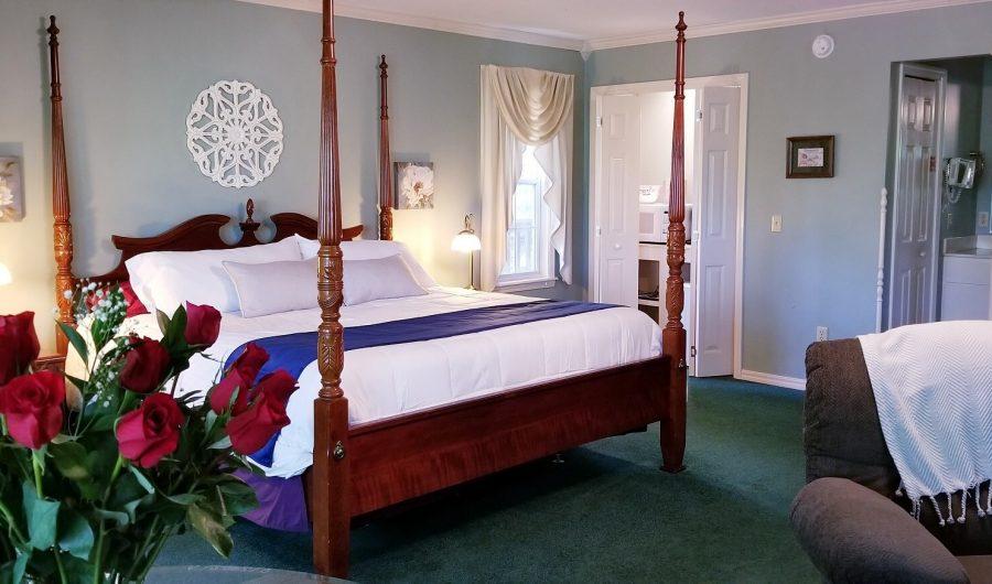 Bed at an angle